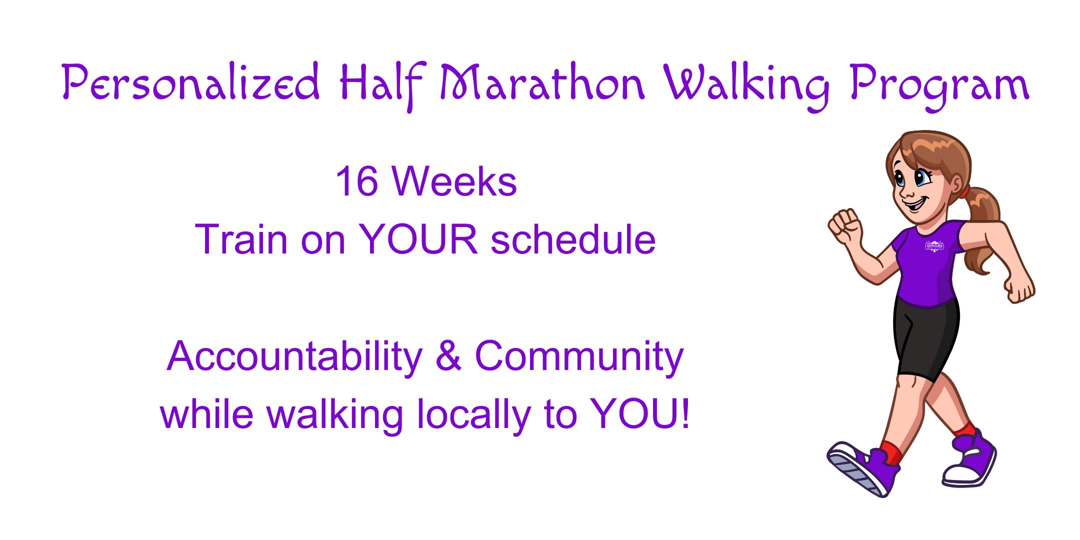 Personalized Half Marathon Walking Program - summary